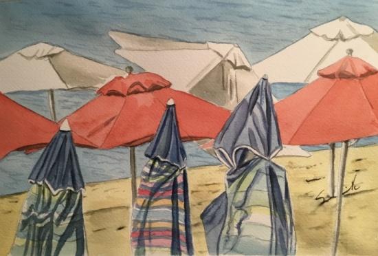 Dance of the Beach Umbrellas